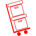 icon of moving boxes
