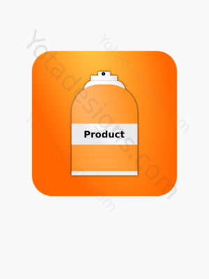 icon of a Spray bottle with orange background