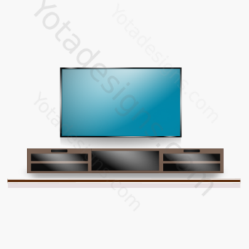 graphic of entertainment center with tv