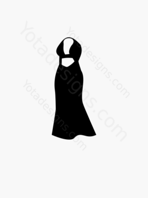 icon of long women's dresses