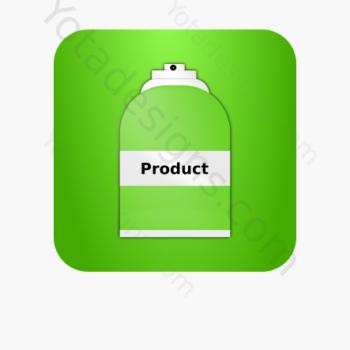 icon of a Spray bottle with green background