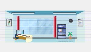 modern Office view infograhic