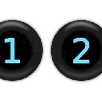 Number one and two buttons