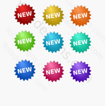 graphic free sticker with different colors