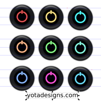 icons set off button